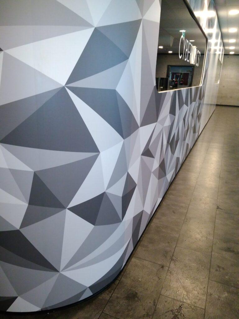 impresión digital interior